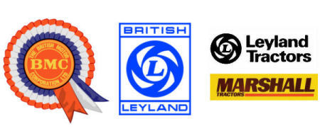 Nuffield, Leyland & Marshall Tractor Logos