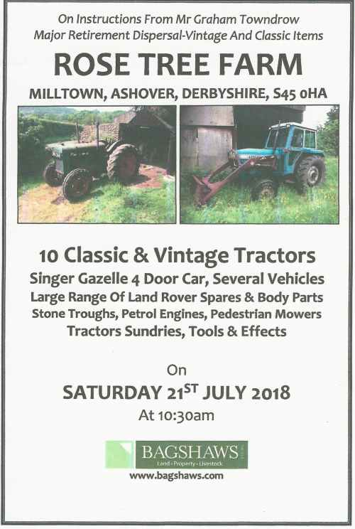 Rose Tree Farm Sale Advert 2018