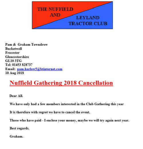 Advert - Event Cancellation
